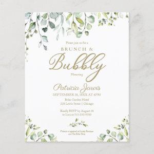 Greenery Brunch And Bubbly Budget Invitations starting at 0.55