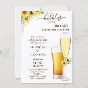 Greenery Bubbles and Brews Couples Shower Invitati starting at 2.55