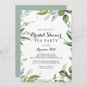 Greenery Calligraphy Bridal Shower Tea Party Invitation starting at 2.51