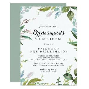 Greenery Calligraphy Bridesmaids Luncheon Shower Invitation starting at 2.51