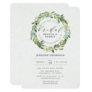 Greenery Eucalyptus Foliage Wreath Bridal Shower Invitation starting at 2.86