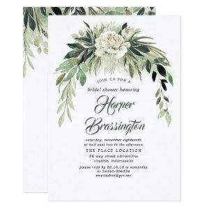 Greenery Garland Elegant Vintage Bridal Shower Invitation starting at 2.26