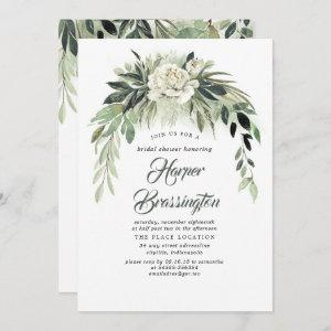 Greenery Garland Elegant Vintage Bridal Shower Invitation starting at 2.51