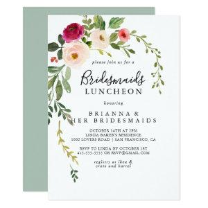 Greenery Pink Blush Bridesmaids Luncheon Shower Invitation starting at 2.51