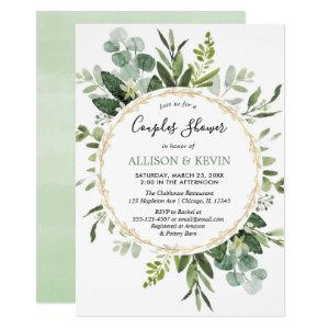 Greenery watercolors couples bridal shower modern invitation starting at 2.55