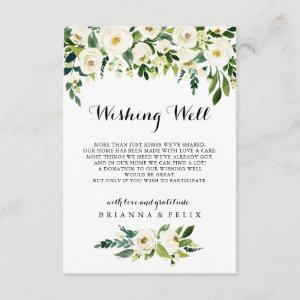 Greenery White Autumn Floral Wedding Wishing Well Enclosure Card starting at 1.91