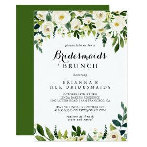 Greenery White Floral Bridesmaids Brunch Shower Invitation starting at 2.51