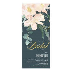 GREY BLUSH FLORAL BUNCH WATERCOLOR BRIDAL SHOWER INVITATION starting at 2.65