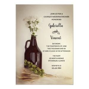 Growler Hops Daisy Brewery Couples Wedding Shower Invitation starting at 2.60