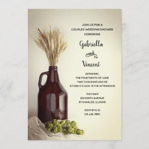 Growler Hops Wheat Brewery Couples Wedding Shower Invitation starting at 2.60