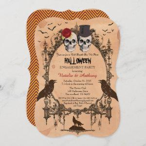 Halloween engagement party invitation. Rustic Invitation starting at 2.50