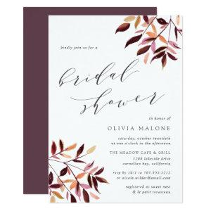 Harvest Foliage Bridal Shower Invitation starting at 2.51