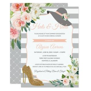 Hats & Heels Derby Bridal Shower Floral Invitation starting at 2.82