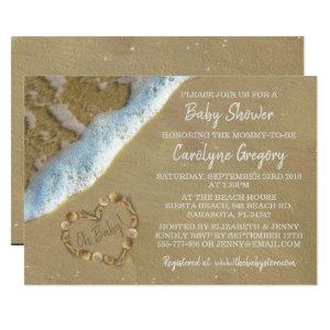 Heart In The Sand Beach Baby Shower Invitations starting at 2.51
