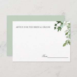 Hedera | Ivy Leaves Sage Wedding Advice or recipe Invitation starting at 2.05