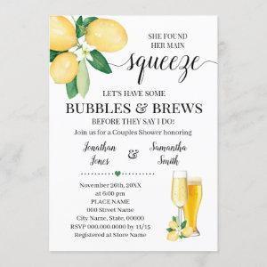 Her main squeeze bubbles & brews bridal shower invitation starting at 2.55