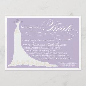 HERE COMES THE BRIDE | BRIDAL SHOWER INVITATION starting at 2.51