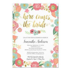 Here Comes the Bride Bridal Shower Invitation starting at 2.50