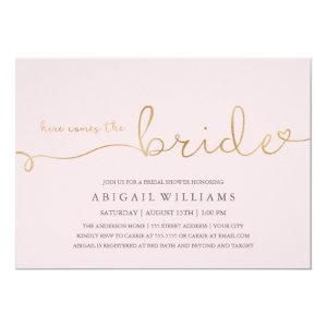 Here comes the bride dk -shower invitation starting at 2.10