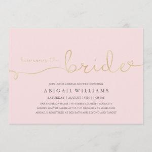 Here comes the bride -shower invitation starting at 2.35