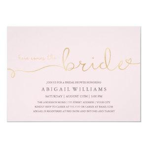 Here comes the bride -shower invitation starting at 2.10