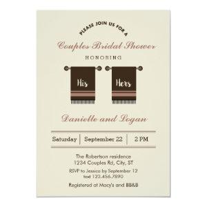 His and Hers Bridal Shower Invitation starting at 2.61