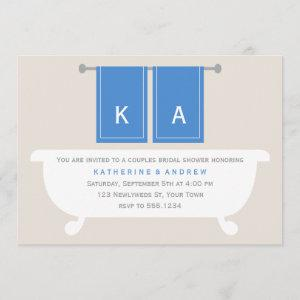 His and Hers Towels Bridal Shower {blue} Invitation starting at 2.66