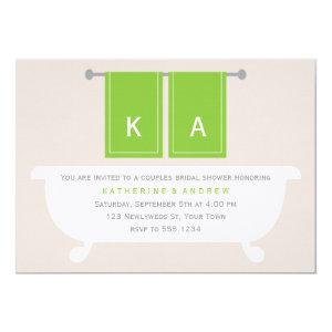 His and Hers Towels Bridal Shower {green} Invitation starting at 3.35