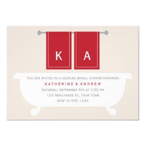 His and Hers Towels Bridal Shower {red} Invitation starting at 2.55