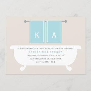 His and Hers Towels Couples Wedding Shower Invitation starting at 2.55