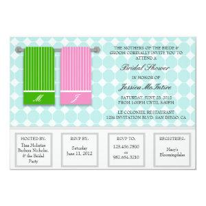 His and Hers Towels Modern Bridal Shower Invitation starting at 2.51