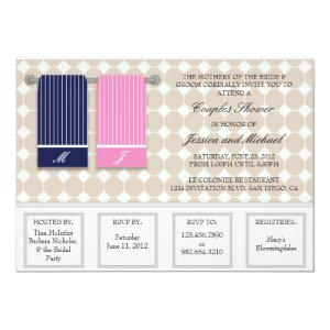 His and Hers Towels Modern Couples Shower Invitation starting at 2.51