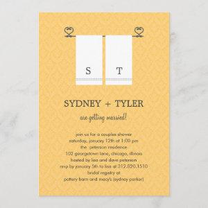 His and Hers Wedding Shower Invitation (Yellow) starting at 2.51