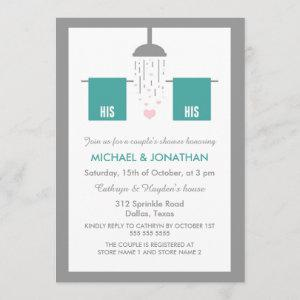 His and His | Gay Couple's Shower Invitation starting at 2.51