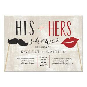 His & Hers Couple Shower Invitation starting at 2.61