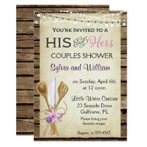 His & Hers Couples Rustic Bridal Shower Invitation starting at 2.77