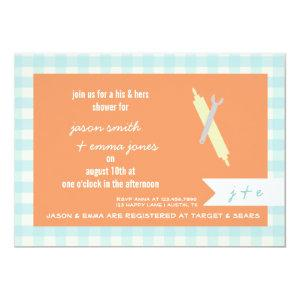 His & Her's Wedding Shower Invitation starting at 2.51