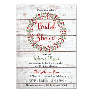 Holiday Charm II Winter/Christmas Bridal Shower Invitation starting at 2.45