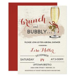 Holiday Christmas Brunch and Bubbly Bridal Shower Invitation starting at 2.40