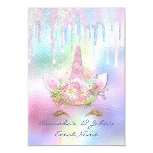Holographic Drips Unicorn Party Sweet 15th Mermaid Invitation starting at 1.95