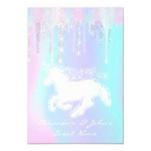 Holographic Drips Unicorn Party Sweet 16th Mermaid Invitation starting at 1.95