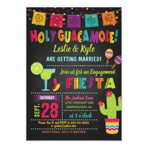 Holy Guacamole Fiesta Engagement Shower Invitation starting at 2.50