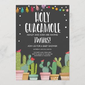 Holy Guacamole Fiesta Twins Baby Shower Invitation starting at 2.66