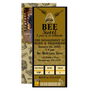 Honey Bee Beehive Birthday Party Event Ticket Invitation starting at 2.98