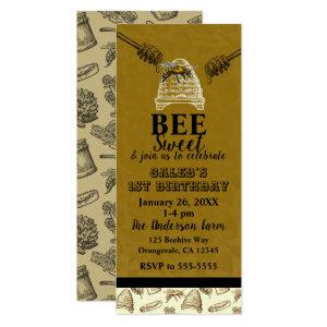 Honey Bee Beehive Birthday Party Event Ticket Invitation starting at 2.93