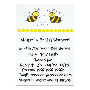 Honey Bees with Heart Invitation starting at 2.66