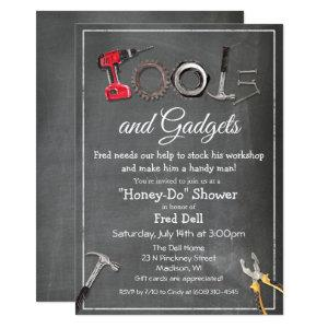 Honey Do Tools & Gadgets Shower Male Invitation starting at 2.61