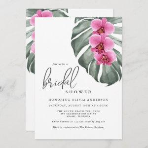 Hot Pink Orchids Tropical Paradise Bridal Shower Invitation starting at 2.51
