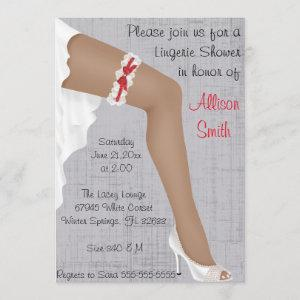 Hot Red & White Lace Lingerie Bridal Shower Invitation starting at 2.66