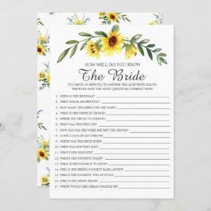 How Well Do You Know The Bride Bridal Shower Game Invitation starting at 2.40